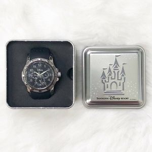 Disney Parks Mickey Mouse Icon Black Adult Watch